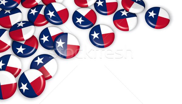 Texas vlag badges 3d illustration witte exemplaar ruimte Stockfoto © NiroDesign