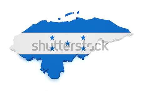 Гондурас карта 3D форма флаг изолированный Сток-фото © NiroDesign
