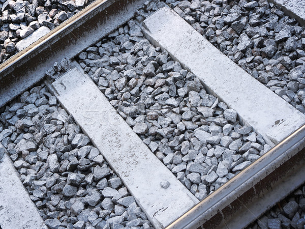 Vasút közelkép kilátás útvonal öreg közlekedés Stock fotó © NiroDesign