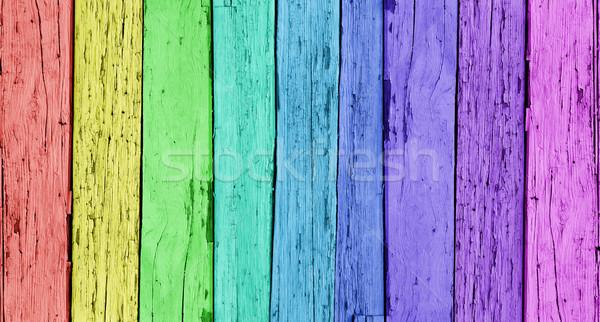 Colorato legno legno verticale fila Foto d'archivio © NiroDesign