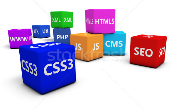 Web design internet seo programmation langue signe Photo stock © NiroDesign