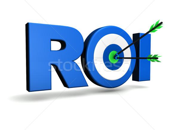üzlet beruházás visszatérés roi szó cél Stock fotó © NiroDesign