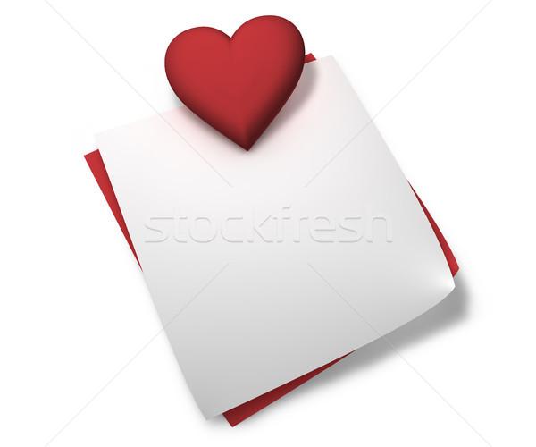 Rosso cuore amore note passione san valentino Foto d'archivio © NiroDesign