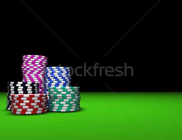 Gambling Casino And Poker Chips Stock photo © NiroDesign