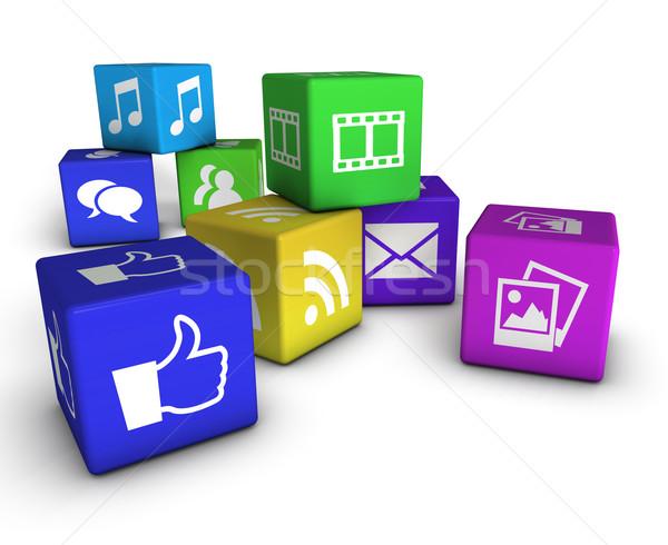 Web sito internet icone web colorato Foto d'archivio © NiroDesign