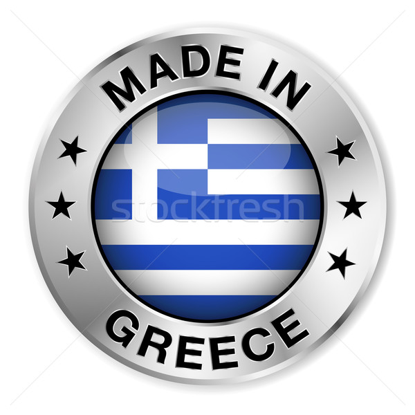 Made In Greece Silver Badge Stock photo © NiroDesign