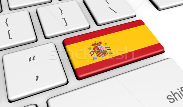 Spagna bandiera digitale bandiera spagnola Foto d'archivio © NiroDesign