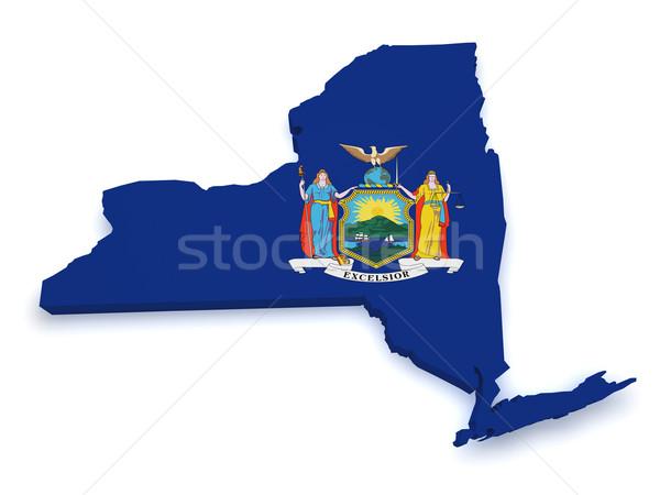 New York Map 3d Shape Stock photo © NiroDesign