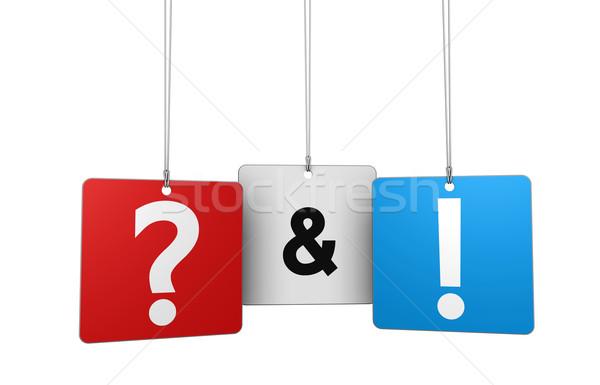 Pergunta responder teia internet ponto de interrogação ponto de exclamação Foto stock © NiroDesign