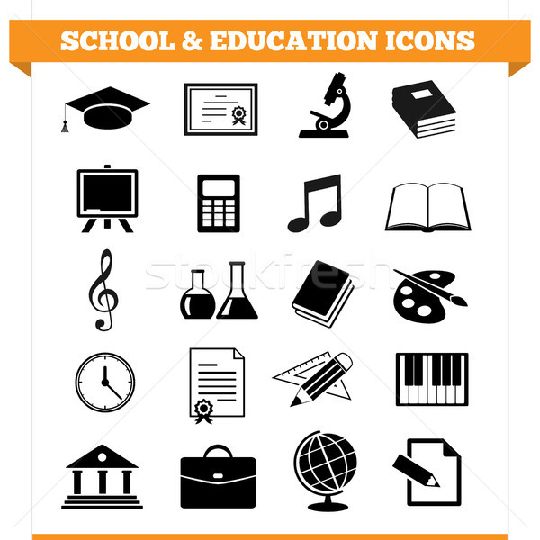 School And Education Icons Stock photo © NiroDesign