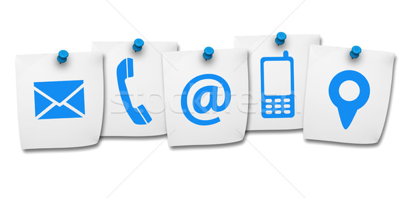 Website Contact Us Icons On Post It Stock photo © NiroDesign