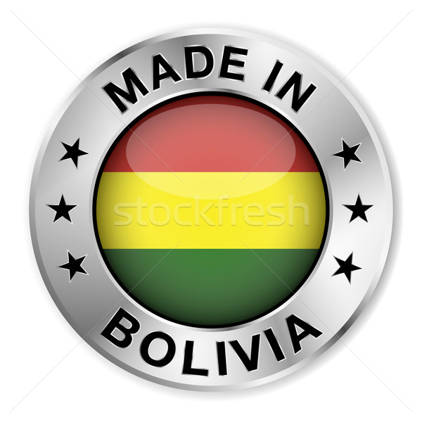 Made In Bolivia Silver Badge Stock photo © NiroDesign
