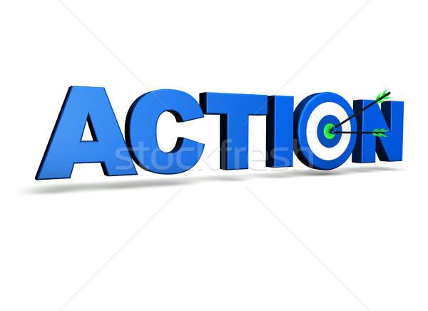 Azione target business obiettivi blu Foto d'archivio © NiroDesign