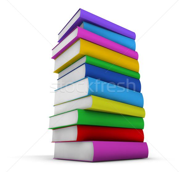 Colorato libri scuola isolato bianco Foto d'archivio © NiroDesign