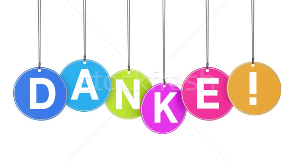 Danke Concept On Tags Stock photo © NiroDesign