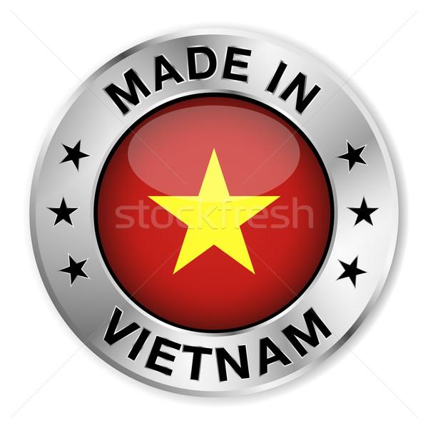Vietnã prata distintivo ícone central Foto stock © NiroDesign