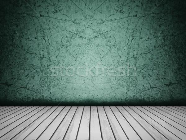Grunge beton zümrüt bağbozumu siyah beyaz duvar Stok fotoğraf © NiroDesign