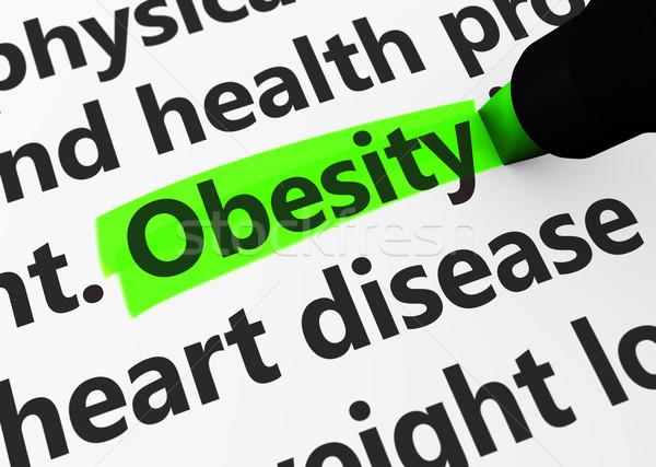 Fettleibigkeit Gesundheitswesen Gesundheit Krankheit 3d render medizinischen Stock foto © NiroDesign