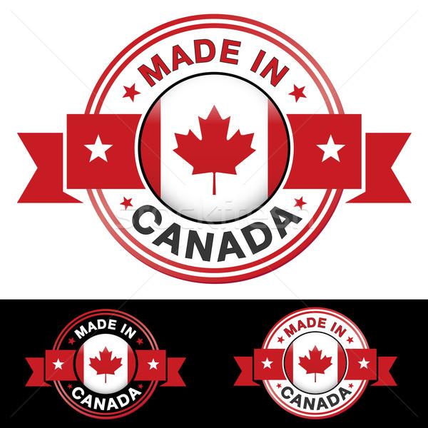 Canada badge etichetta icona nastro centrale Foto d'archivio © NiroDesign
