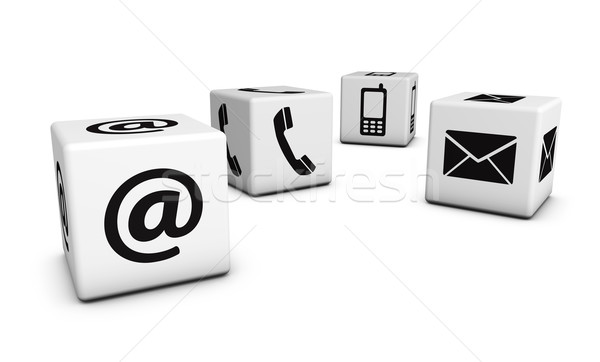 Web Contact Us Icons On Cubes Stock photo © NiroDesign