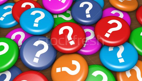 Foto d'archivio: Business · cliente · domande · punto · di · domanda · simbolo · icona
