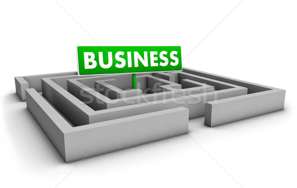 Business Labyrinth Concept Stock photo © NiroDesign