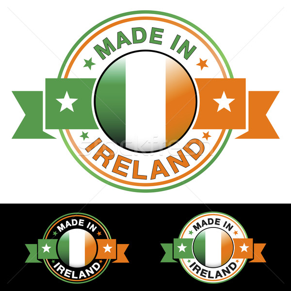 Irlanda placa etiqueta icono cinta central Foto stock © NiroDesign
