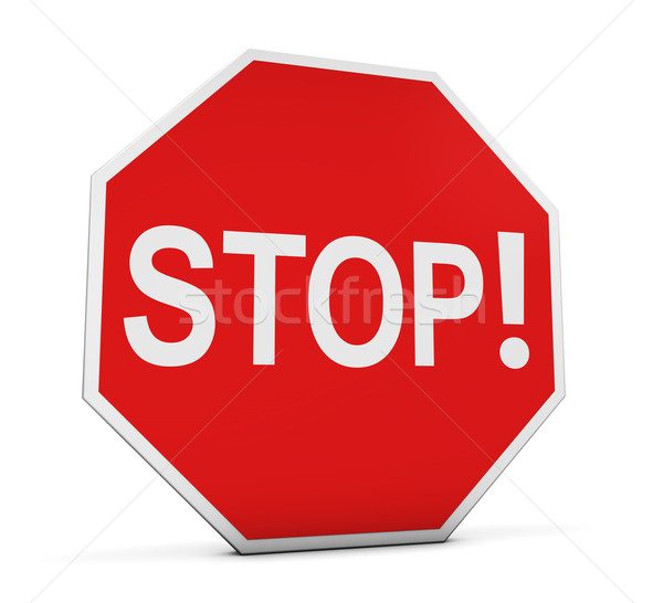 Stop Sign With Exclamation Stock photo © NiroDesign