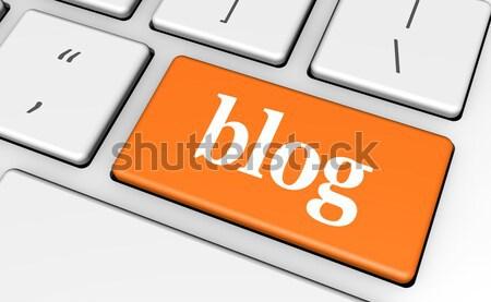 Blog Key Stock photo © NiroDesign
