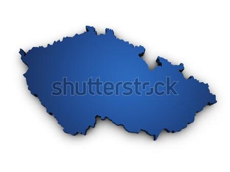 Mapa Burkina 3D forma azul Foto stock © NiroDesign