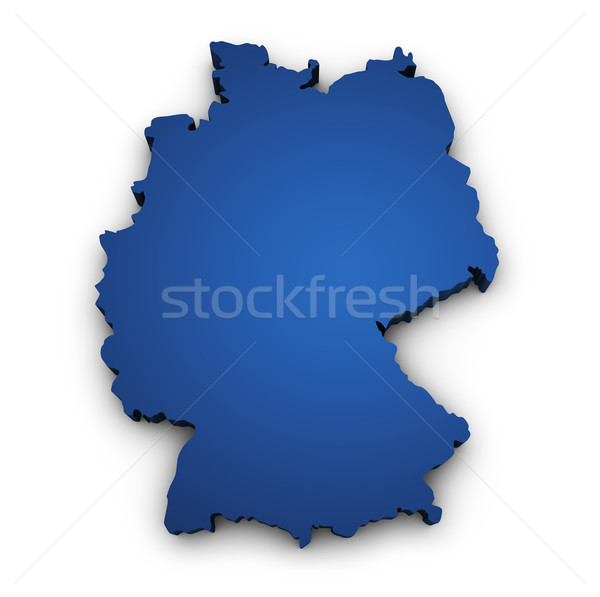 Map Of Germany 3d Shape Stock photo © NiroDesign
