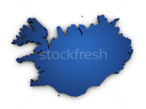 Map Of Iceland 3d Shape Stock photo © NiroDesign