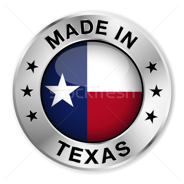 Made In Texas Silver Badge Stock photo © NiroDesign