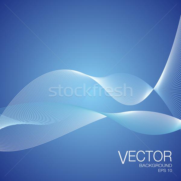 Abstract vettore blu onde linee Foto d'archivio © NiroDesign