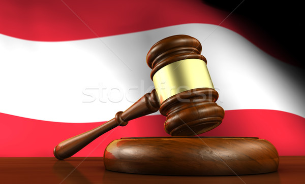 Austrian Law And Justice Concept Stock photo © NiroDesign