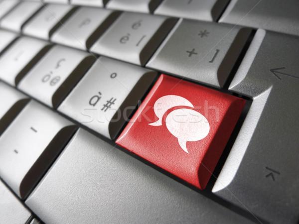 Social network chiave web icona simbolo Foto d'archivio © NiroDesign