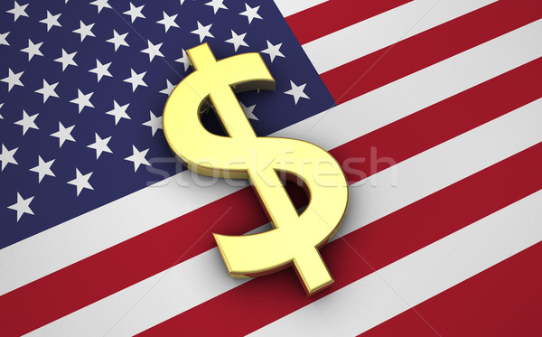 米国 経済 米国 ドル アメリカ フラグ ストックフォト © NiroDesign
