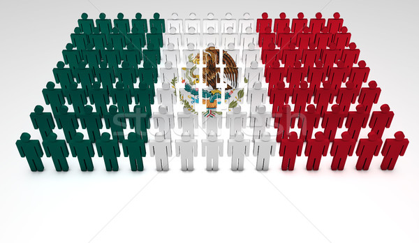 Mexican Flag Parade Stock photo © NiroDesign