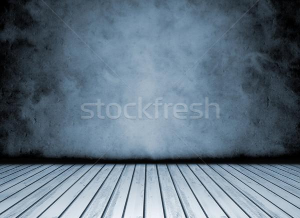 Grunge vintage azul negro blanco concretas Foto stock © NiroDesign