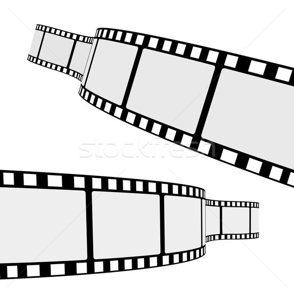 Mozi filmszalag szett kettő keret különböző Stock fotó © NiroDesign