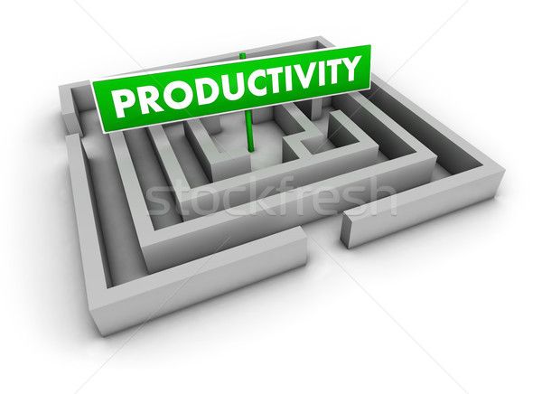 Productivity Concept Labyrinth Stock photo © NiroDesign
