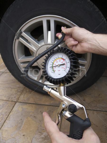 Tyre Pressure Check Stock photo © NiroDesign