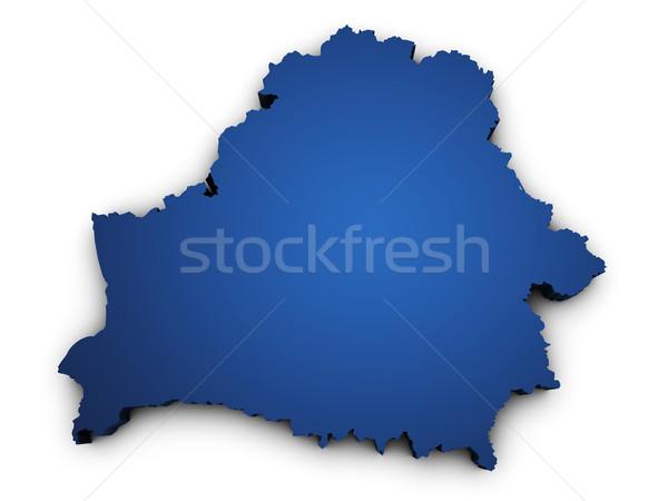 Map Of Belarus 3d Shape Stock photo © NiroDesign