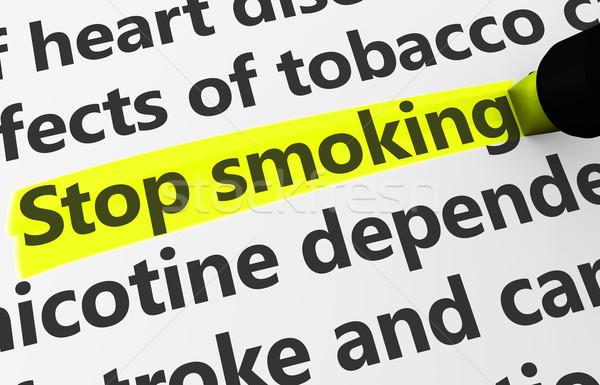 Stop fumare salute malattia primo piano 3D Foto d'archivio © NiroDesign