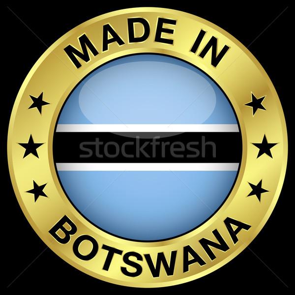 Botswana placa oro icono central Foto stock © NiroDesign