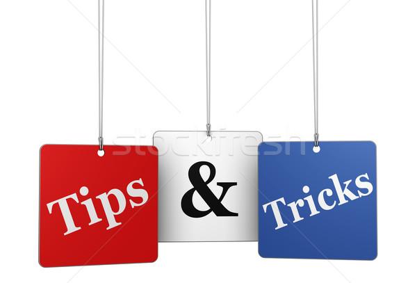 Consejos web etiquetas sitio web Internet blog Foto stock © NiroDesign