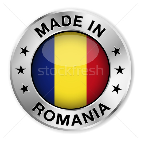 Rumania plata placa icono central Foto stock © NiroDesign
