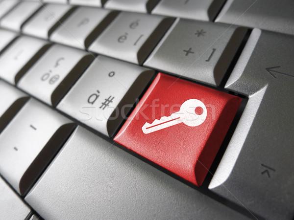 Computer zugreifen Schlüssel Internet Sicherheit Symbol Stock foto © NiroDesign