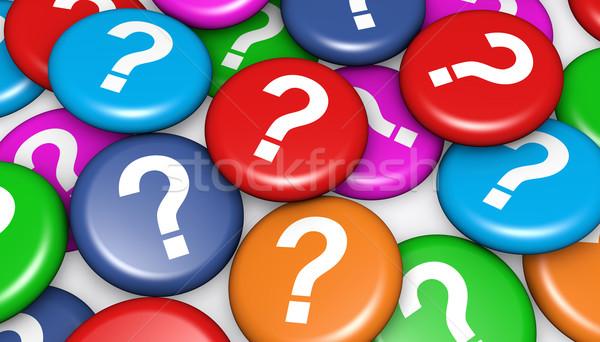 Kérdőjel színes jelvények szimbólum ikon vásárló Stock fotó © NiroDesign