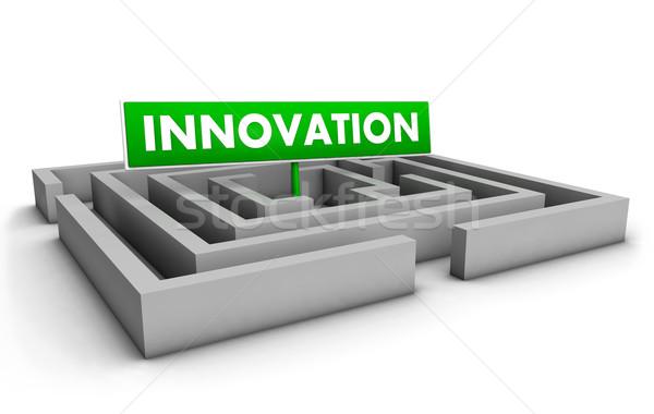 Innovazione labirinto business verde obiettivo segno Foto d'archivio © NiroDesign